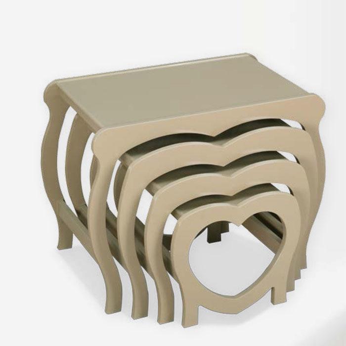 Kalpli Boyalı Zigon Sehpa - 1050