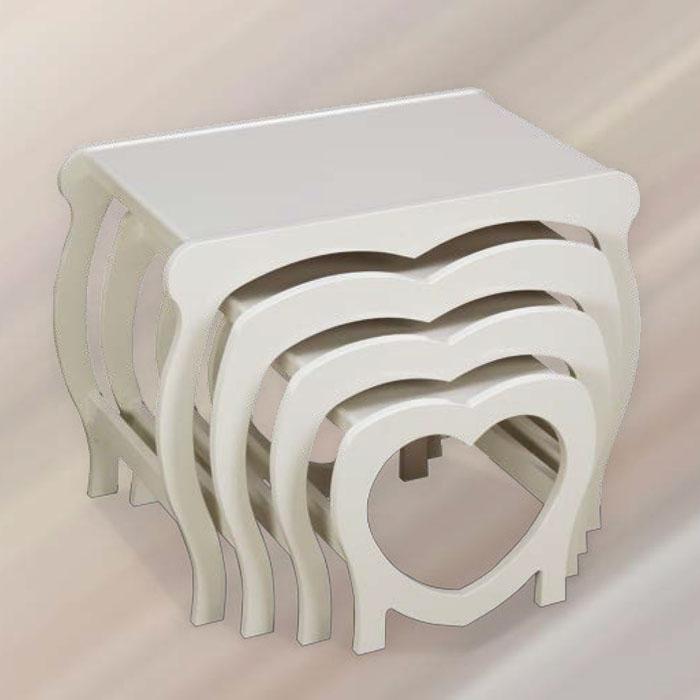 Kalpli Boyalı Zigon Sehpa - 1055